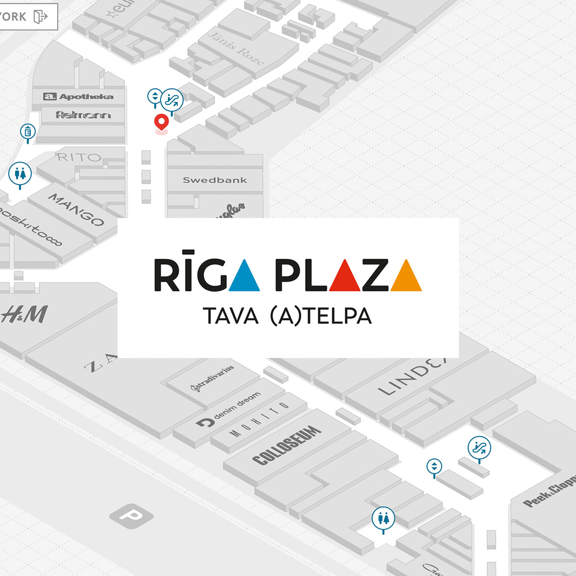 Riga Plaza interaktīvais stends